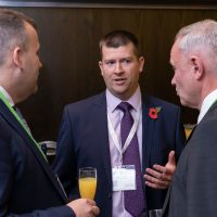 Delegates talking at the ACC AIRLINE CONFERENCE 2019