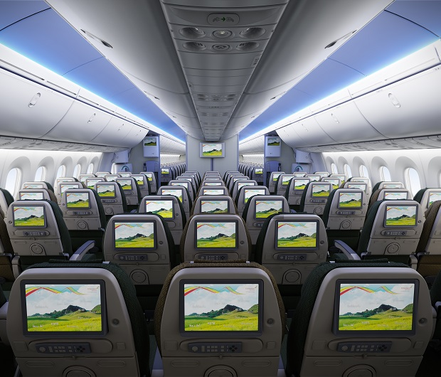Ethiopian Airlines Economy Class Cabin