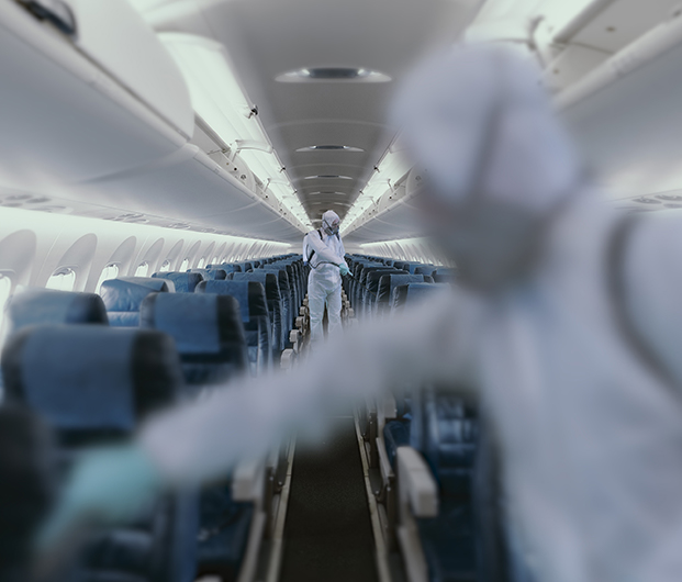 Enhanced Aircraft Hygiene Measures including Disinfecting Key Surfaces