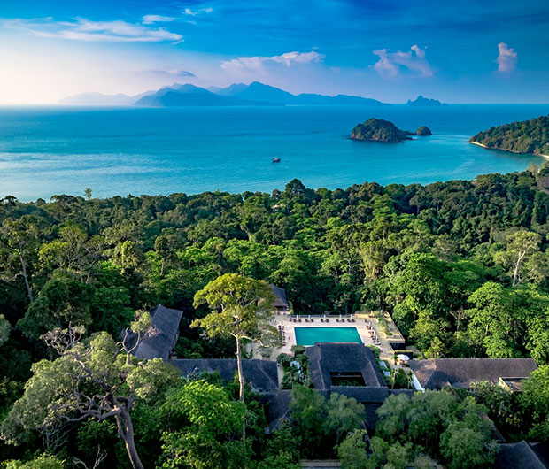 THE DATAI LANGKAWI, MALAYSIA aerial view