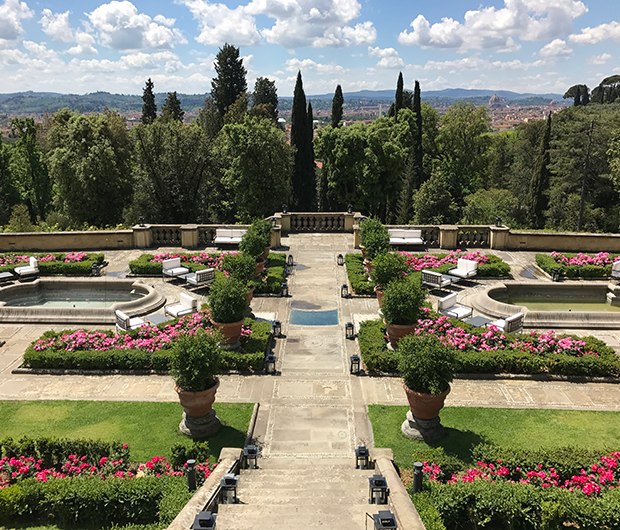 IL SALVIATINO, FLORENCE, ITALY view of the gardens