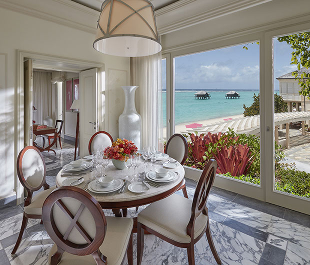 MANDARIN ORIENTAL CANOUAN, ST VINCENT & THE GRENADINES dining table view