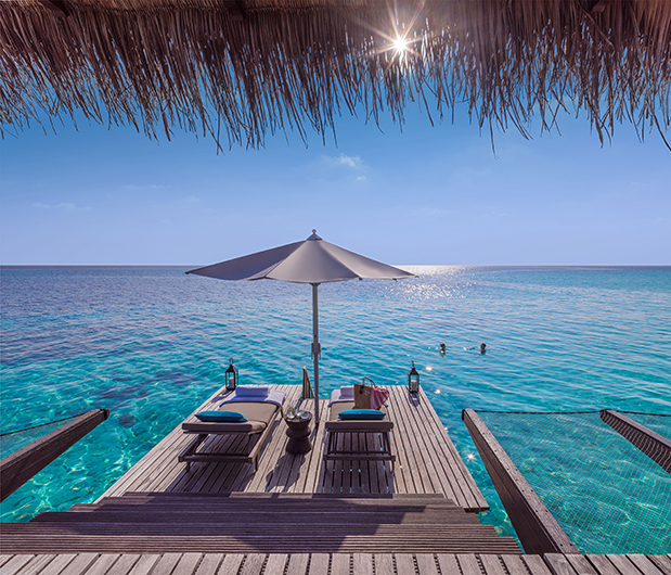 ONE&ONLY REETHI RAH, MALDIVES ocean and sunbeds