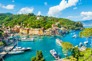 Beautiful view of Portofino, Liguria, Italy
