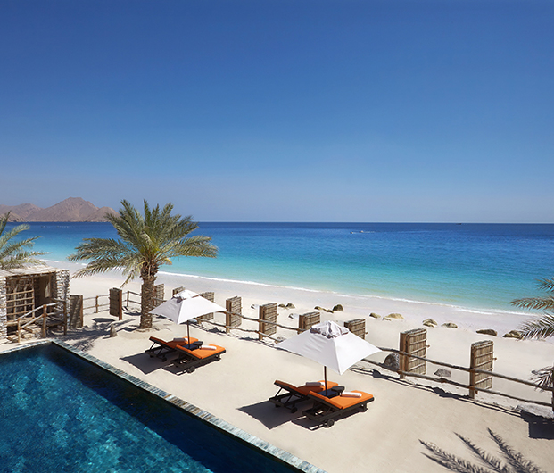 SIX SENSES ZIGHY BAY, OMAN beach and poolside