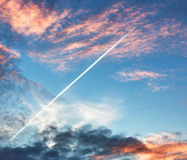 Sky with Aircraft Vapour Trail