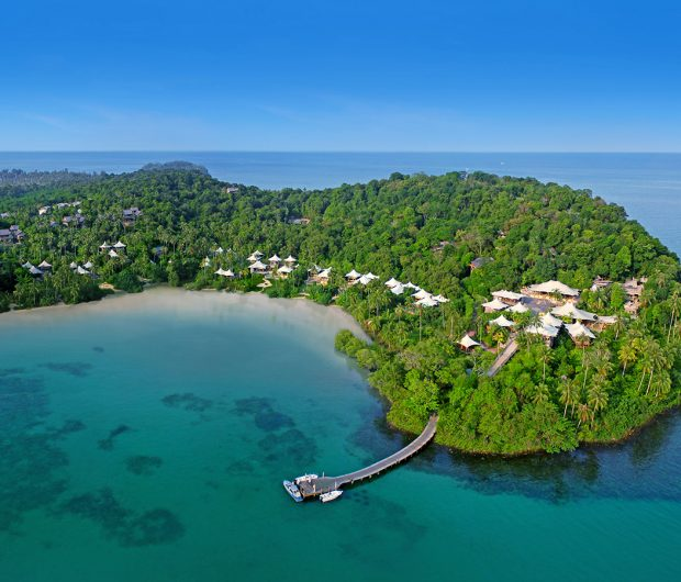 Aerial View of Soneva Kiri Resort, Koh Kood, Thailand