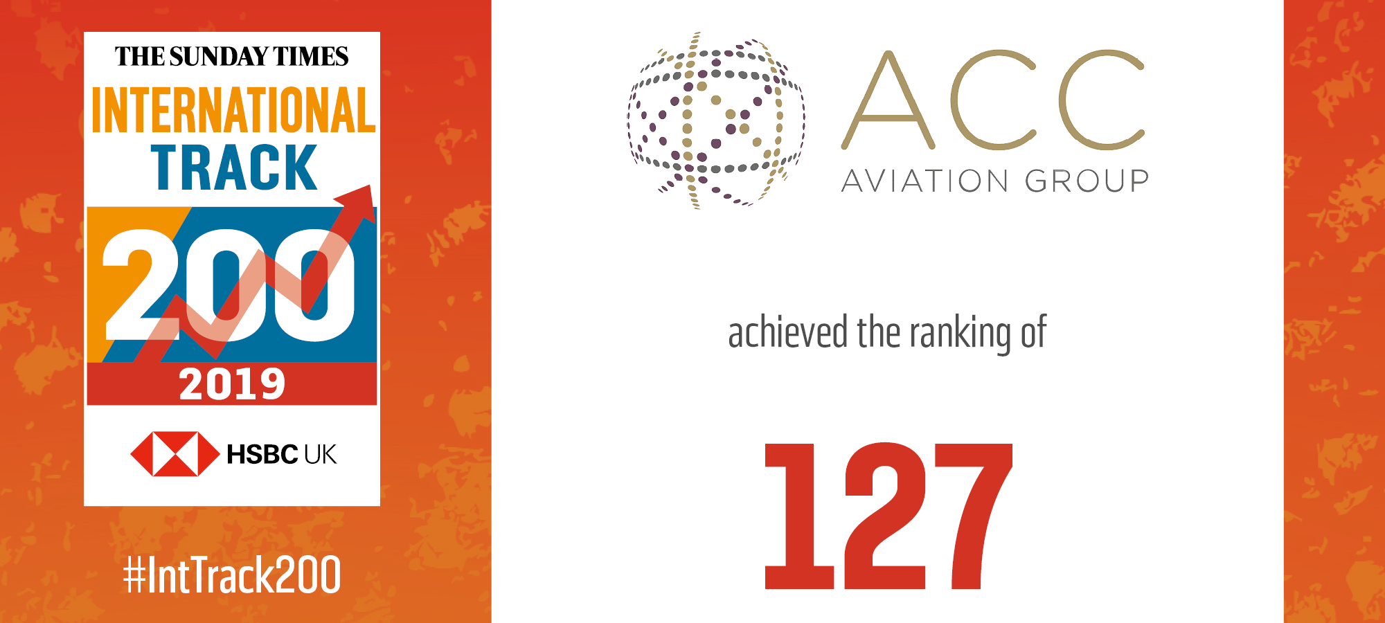 ACC Aviation Group Ranked 127th in The Sunday Times HSBC International Track 200