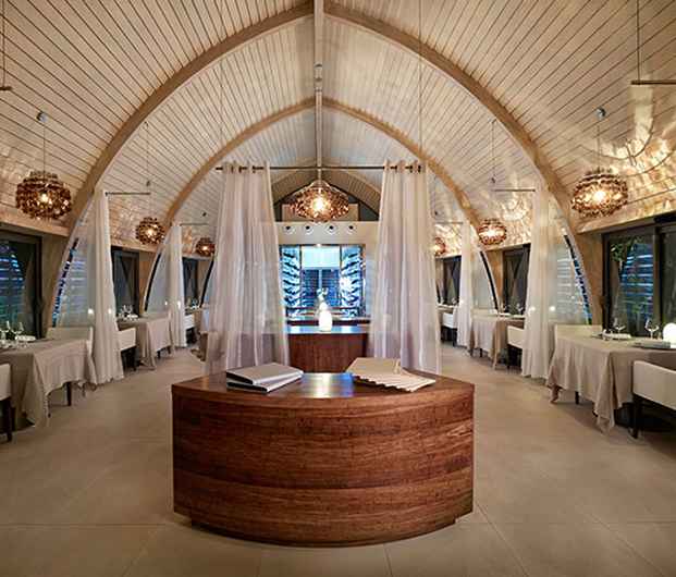 THE BRANDO, TETIAROA, FRENCH POLYNESIA dining area