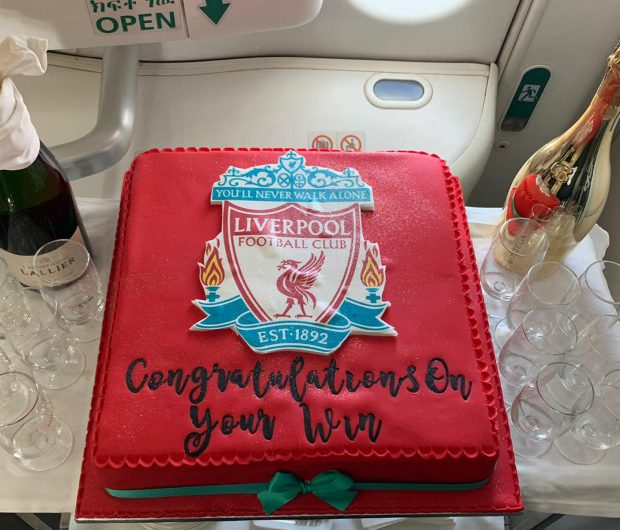 Liverpool Football Club European Champions Cake